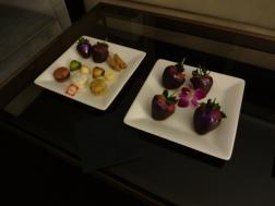 Chocolates na chegada