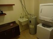 Área de lavagem e secagem de roupas
