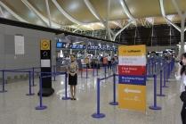 Check-in Lufthansa em Shanghai