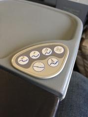Controles do assento