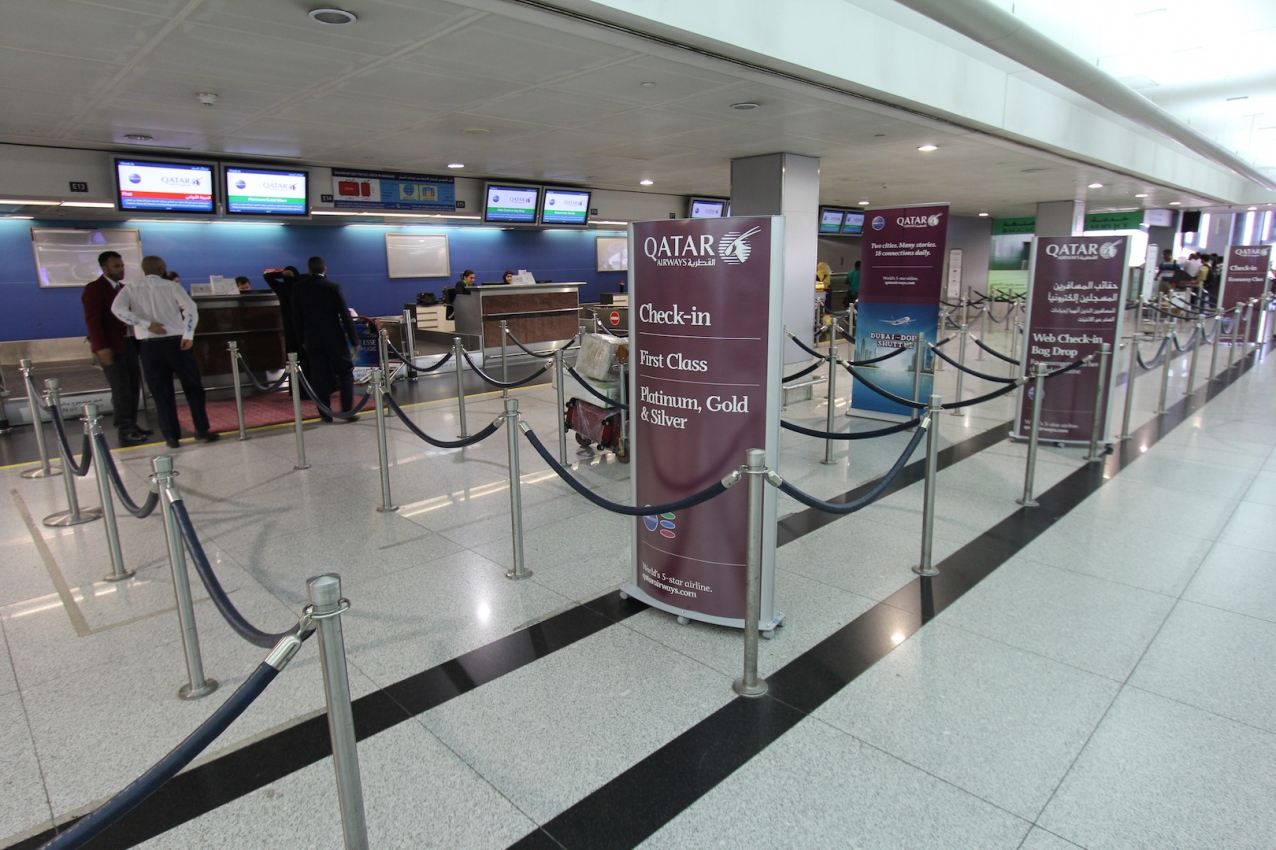 Check-in no aeroporto de Dubai
